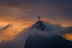 Jesus Christ Redeemer by lena monteiro on South America, Jesus Christ, Brazil, Shots, Architecture, Rio De Janeiro, Arquitetura, Architecture Design