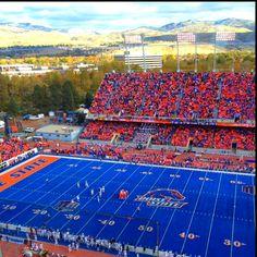 The blue turf of BSU. Go Broncos!