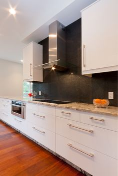 Veddinge white and black kitchen