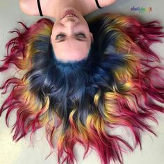 Best hairstyle wax ashley judd bob hairstyle,ash blonde hairstyle 2015 long hairstyle,women haircuts shoulder length over 50 bun hairstyles step by step. Pelo Multicolor, Color Fantasia, Corte Y Color, Cool Hair Color, Short Hair Colour, Blue Hair Colors, Blue And Red Hair, Hair Goals Color, Yellow Hair
