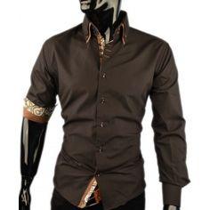 Heren Overhemd Hoge Boord.15 Beste Afbeeldingen Van Italiaanse Overhemden Heren Italian