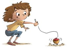 Child playing with a spinning top - Dibustock, Ilustraciones infantiles de Stock Spinning Top, Aspergers, Head Start, Special Education, Kids Playing, Little Ones, Disney Characters, Fictional Characters, Childhood