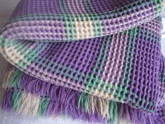 beautiful lilac Vintage pure Welsh wool by 20thCenturyStuff, £160.00