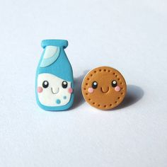 Easter Gifts For Girls Outfit Milk And Cookie Funny Mini Food Earrings Jewelry Cookies Et Biscuits, Polymer Clay Charms, Polymer Clay Earrings, Fimo Clay, Bff Gifts, Funny Gifts, How To Make Clay, Friendship Jewelry, Carte De Visite