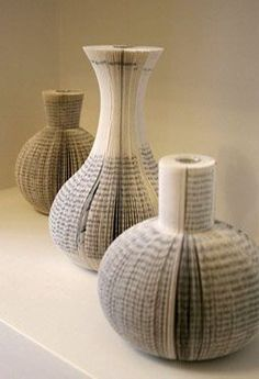 Book vases by Laura Cahill at Eco Home, Geffrye Museum
