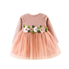 1cdb88954ec Girls clothes Dress Floral Cute Toddler Baby Girl Floral Tutu Long Sleeve  Princess Dress