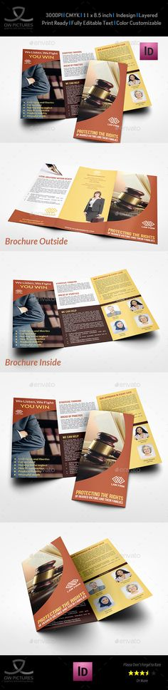 Law firm trifold brochure for Law firm brochure template