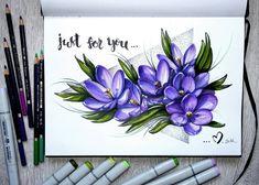"""С самым добрым утром)))!!!! Весна!!! И вот моя первая работа для ботанического скетч марафона от @art_markers и @lisa.krasnova .Тема 1\8 """"весенние цветы""""))) мои цветы для вас..это - крокусы))) хорошего всем дня...и весеннего настроения)))))) #lk_sketchflashmob #sketch #sketchbook #botanical #instaart #art #flowers #illustration #markerart by annakumeyko"""