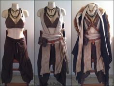 This demonstration of how a good costume takes advantage of layering comes to us from Balmore Leathercraft. Outfit Elegantes, Fantasy Dress, Fantasy Outfits, Fantasy Clothes, Fantasy Town, Fantasy Hair, Cool Outfits, Fashion Outfits, Larp Fashion