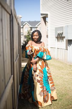 African fashion top and skirt set made from ankara by Melapteh