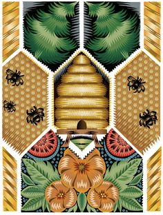 A Pursuit of Bees by Q. Cassetti. Great Design