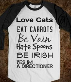 love cats; yes im a directioner. too bad i'm allergic to carrots. @Delaney Dabagian
