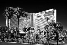 Mirage hotel and casino Las Vegas Nevada USA photograph picture poster print art #mirage #mono #photooftheday #art