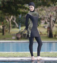 e86b22a7df303 Ladies modest swimwear bathers women long sleeves muslim swimsuit bathing  suit