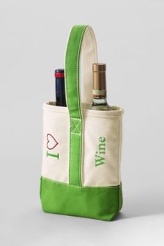 I Heart Double Wine Tote from Lands End. This is a must for wine lovers and BYOB enthusiasts!