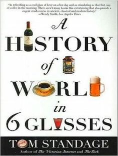 This looks like a REALLY fun read.     This book tells the story of humanity from the Stone Age to the 21st century through the lens of beer, wine, spirits, coffee, tea, and cola.     A History of the World in 6 Glasses / Tom Standage. Toledo campus. Call number : GT 2880 .S83 2006.