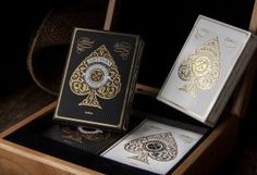 Artisan Playing Cards: Luxury Edition - Laser Etched Wood Box Set
