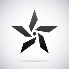 Insignia estrella vectoriales. Plantilla de diseño — Ilustración de stock Cool Symbols, Zentangle, Typographie Logo, Lab Logo, Photography Logo Design, Symbol Design, Logo Design Template, Stencil Designs, Graphic Design Typography
