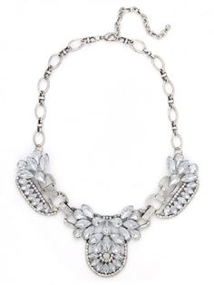 silver iced mademoiselle necklace / baublebar