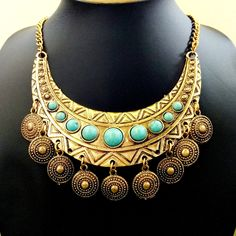 gift idea for women Hippie Jewelry, Tribal Jewelry, Turquoise Jewelry, Beaded Jewelry, Turquoise Stone, Silver Jewellery, Fake Nose Rings, Coin Necklace, Bead Necklaces