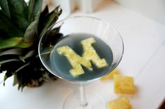 Go Blue-tini - SO cute! Michigan Wolverines!