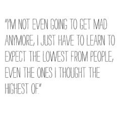 i expect too much of others