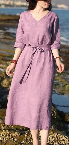 loose style,soft and breathy organic linen fabric,very special with it's waist pleated design.this women dresses also could be custom made any size. Source by Sevenfriends dresses indian Vintage Summer Dresses, Summer Dresses For Women, Linen Dress Pattern, Cotton Long Dress, Linen Dresses, Cotton Dresses, Women's Dresses, Casual Dresses, Dresses Short