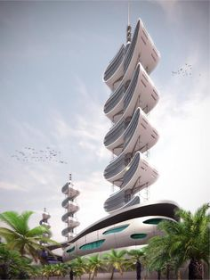 A lovely flowing, growing design - I can imagine this as Femme residential apartments.