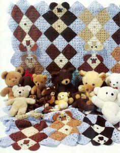 TEDDY BEAR BLANKET  - CROCHET