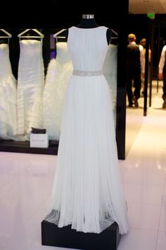 Chiffon prom dress, ball gown, cute white chiffon long prom dress for teens