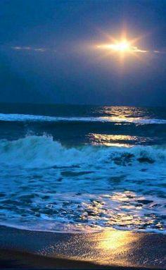 Ocean sunset...Beautiful!