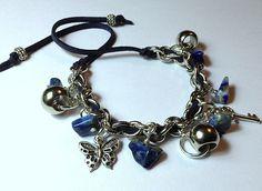 Cuero gamuza, piedra lapis lazuli...