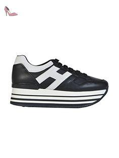 Hogan Femme Hxw2830t540du00002 Blanc/Noir Cuir Baskets - Chaussures hogan (*Partner-Link)