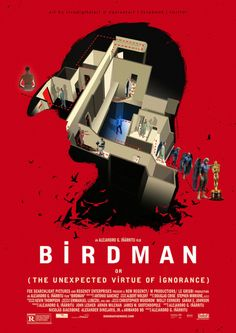 Birdman 2014 | FanArt Poster 'Birdman' wins four Oscars at the 87th Academy Awards, including best picture, Best Director, Best Original Screenplay, and Best Cinematography. The Maze which i have portrayed is the similar one used in the film. Artist: SivakumarMovie: #Birdman