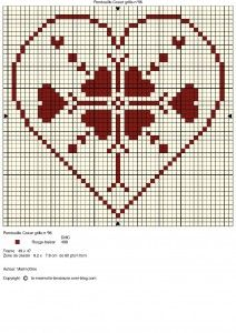 This Simple Heart Chart cross stitch #embroidery design looks perfectly Danish.