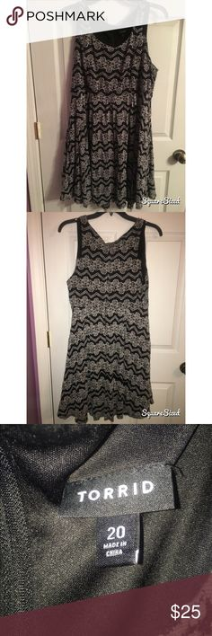 Lacy plus size dress Torrid lacy dress, worn only once! In great condition! torrid Dresses Mini