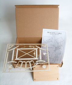 Miniature Drafting Table Model Kit por ThomasHouhaDesigns en Etsy