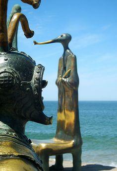 Sculptures on the Malecon, Puerto Vallarta. http://www.puertovallarta.net #puertovallarta #vallarta #jalisco #mexico