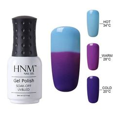 Temperature 3 Color Changing Gel Nail Polish 8ml