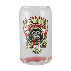 Fast N' Loud Gas Monkey Garage Spark Plug 12 oz. Glass