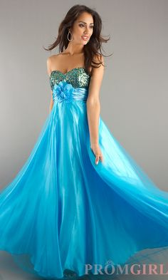 Full Length Strapless Formal Gown DQ-8116