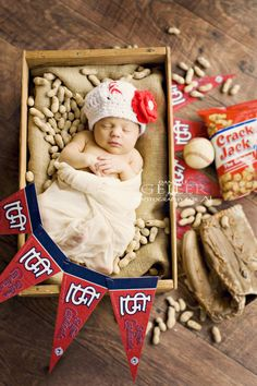 Cardinals, Baseball, Newborn Photography,