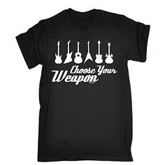 CHOOSE YOUR WEAPON – GUITAR (XXL – BLACK) NEW PREMIUM LOOSE FIT T-SHIRT – slogan funny clothing joke novelty vintage retro t shirt top men's ladies women's girl boy men women tshirt tees tee t-shirts shirts fashion urban cool geek amp guitar acoustic electric picks pickups footswitches strings stands music band exerciser bag case day for him her brother sister mum dad mummy daddy father mother birthday ideas gifts christmas present gift S M L XL 2XL 3XL 4XL 5XL – by Fonfella