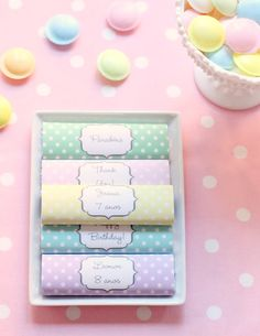 citrusandorange: Chocolate wrappers