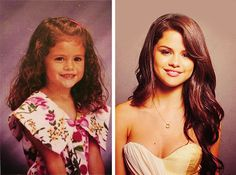cute then and now - Selena Gomez