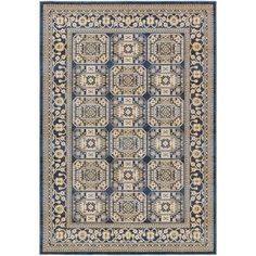 Roosevelt Albany Blue Rectangular: 5 Ft. 3-Inch x 7 Ft. 6-Inch Rug - (In No Image Available)
