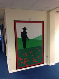 Super Ideas For Home Art Projects Classroom Class Displays, School Displays, Library Displays, Classroom Displays, Remembrance Day Activities, Remembrance Day Art, Ww1 Display, Display Ideas, Ww1 Art