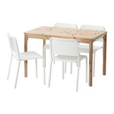 IKEA PS 2014 / MELLTORP 테이블+의자4 IKEA 테이블 상판 밑에 식기도구, 냅킨, 식탁 매트를 수납할 수 있는 편리한 서랍이 있습니다. 천연소재인 소나무원목은 시간이 흐를수록 멋스러워집니다.