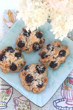 Blackberry, Coconut and Dark Chocolate Scones