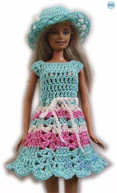 conjuntos ropa para barbie crochet accesorios vestidos